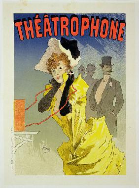 Reproduction of a poster advertising 'Theatrophone' 1890