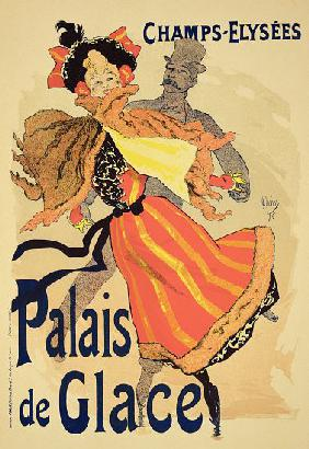 Reproduction of a poster advertising the 'Palais de Glace', Champs Elysees, Paris 1896