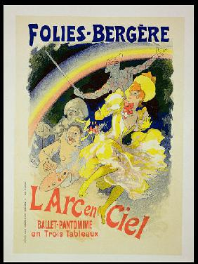 Reproduction of a poster advertising 'The Rainbow', a ballet-pantomime presented by the Folies-Berge 1893
