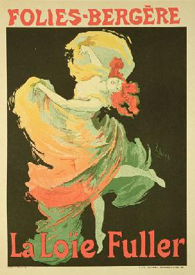 Reproduction of a Poster Advertising 'Loie Fuller' at the Folies-Bergere 1893