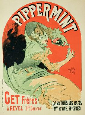 Reproduction of a poster advertising 'Pippermint' 1899