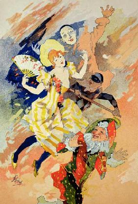 Reproduction of a poster for a pantomime, 1891 (colour litho) 18th