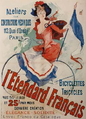 L'Etendard Français Bicycles (Plakat) 1891