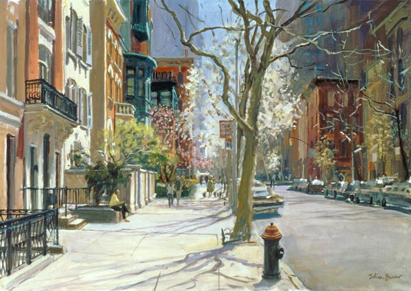 east 70th street new york 1996 oil on julian barrow als kunstdruck oder handgemaltes gem lde. Black Bedroom Furniture Sets. Home Design Ideas
