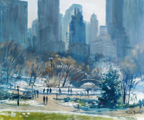 Winter in Central Park, New York 1997