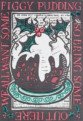 Figgy Pudding, 1998 (linocut on paper)