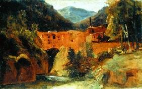 Mill in the valley near Amalfi 1829