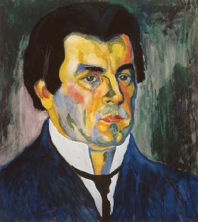 Kasimir Malevich, Self-portrait 1908 1908