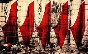 Barriers to Statehood, 1992 (screen print on canvas)
