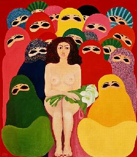 Bride of Galilee, 1989 (acrylic on canvas)