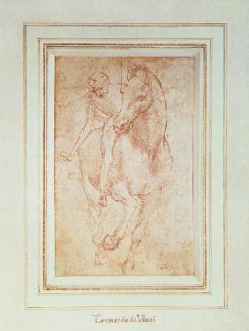 Horse and Rider (silverpoint) 1481