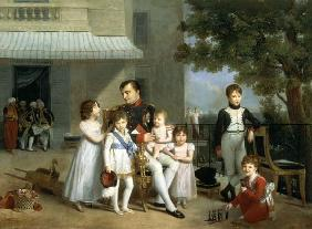 Portrait of Napoleon Bonaparte (1769-1821) with his Nephews and Nieces on the Terrace at Saint-Cloud 1810