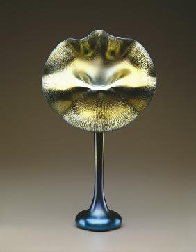 Blue and gold favrile 'Jack-in-the-Pulpit' vase 1915