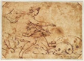 The Triumph of Galatea, 17th century (ink & red chalk on paper)