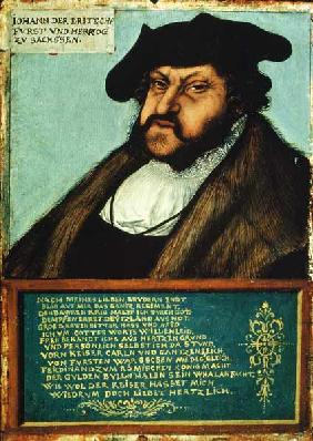 Portrait of John I (1468-1532) the Steadfast, Elector of Saxony c.1533