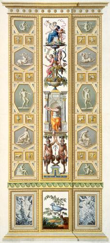 Panel from the Raphael Loggia at the Vatican, from 'Delle Loggie di Rafaele nel Vaticano', engraved published