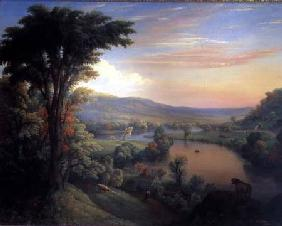 View of the Mohawk near Little Falls 1854
