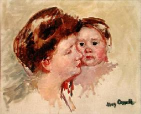 Mother in Profile with Baby Cheek to Cheek (No.2) c.1909