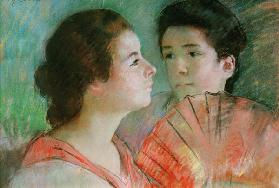 Cassatt / Two Sisters / Pastel drawing