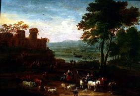 Landscape with Travellers in the Foreground