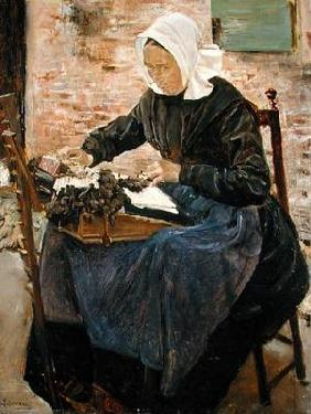 A Dutch Lace-Maker, 1881 (oil on canvas) 16th