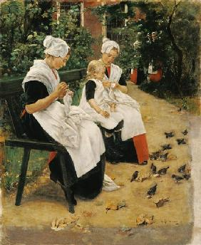 Amsterdam Orphans in the Garden, 1885 (oil on canvas) 15th