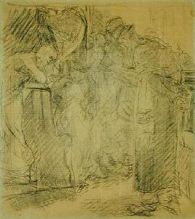 Composition sketch for Christ in the Temple (pencil on paper) 15th