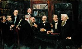 The Hamburg Convention of Professors, 1906 (oil on canvas) (see also 144760) 13th