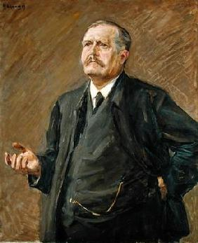 The Theologian and Social Politician, Friedrich Naumann (1860-1919) 1909 (oil on canvas) 15th