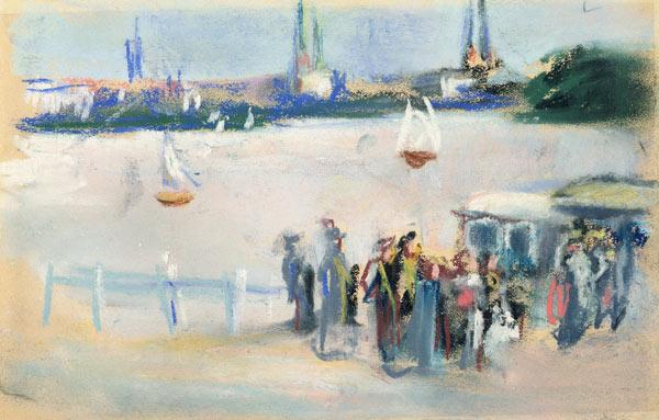 View of the Aussenalster 1909