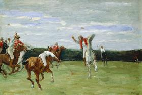 Polo player in Jenischpark, Hamburg, 1903 (oil on canvas) 15th