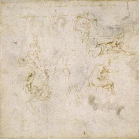 Study of Figures, c.1511 (pen & ink on paper) 1601