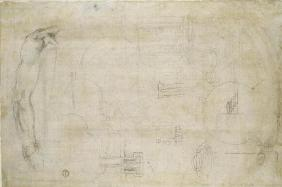 Architectural studies, c.1538-50 (black chalk on paper) 1601