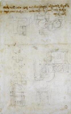 Architectural Studies, c.1560 (black chalk on paper) 1601