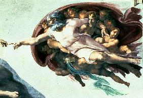 Sistine Chapel Ceiling: Creation of Adam, 1510 (detail of 77430)