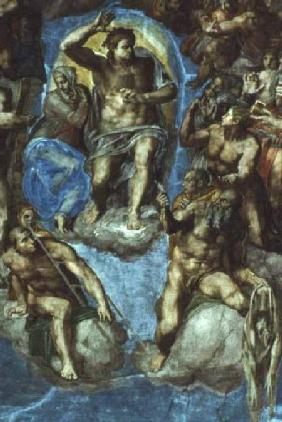 Christ, detail from 'The Last Judgement', in the Sistine Chapel 16th centu