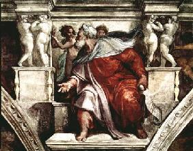 Sistine Chapel Ceiling: The Prophet Ezekiel 1510