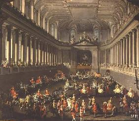 A Cavalcade in the Winter Riding School of the Vienna Hof to celebrate the defeat of the French army 1743