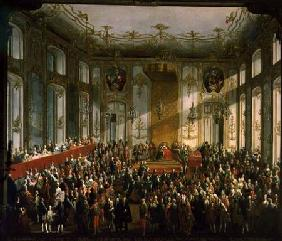 Empress Maria Theresa at the Investiture of the Order of St. Stephen 1764