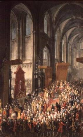The Investiture Joseph II (1741-90) following his coronation as Emperor of Germany in Frankfurt Cath 1764