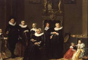 The Family of a Stadhouder in an Elegant Interior 1635