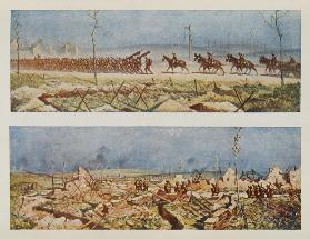 The Roads of France, C and D, from British Artists at the Front, Continuation of The Western Front 1917