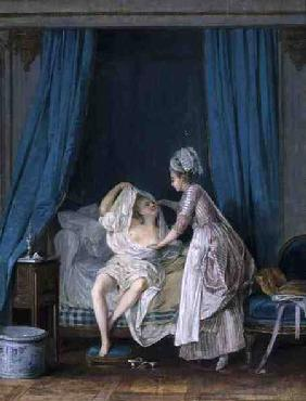 Lady Getting Out of Bed 1776