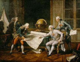 Louis XVI (1754-93) Giving Instructions to La Perouse, 29th June 1785 1817
