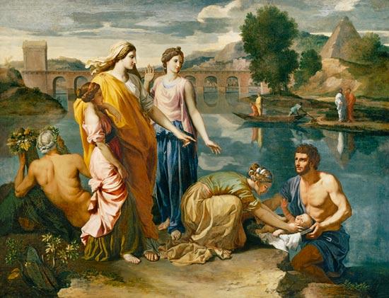 Nicolas Poussin - Die Auffindung des Moses-Knaben