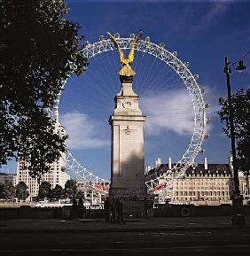 London Eye and Airforce Monument
