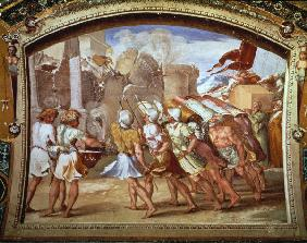 Raphael / The Fall of Jericho / c.1515