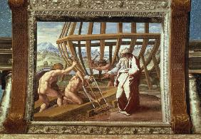 Raphael /The building of the Ark /c.1515