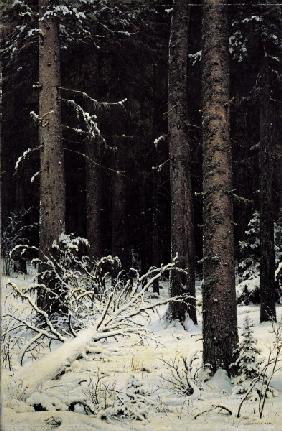 Shishkin / Fir trees in Winter, Painting