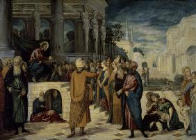 Tintoretto / Christ and the Adultress